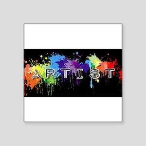 "srtist paint platter Square Sticker 3"" x 3"""