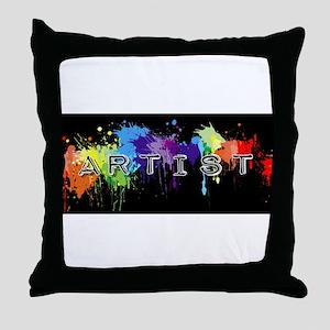 srtist paint platter Throw Pillow