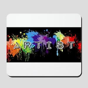 srtist paint platter Mousepad