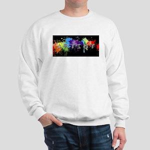 srtist paint platter Sweatshirt