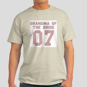 Grandma of the Bride 07 Ash Grey T-Shirt