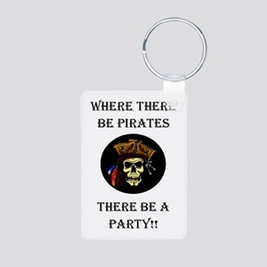 PartyPirate2a Aluminum Photo Keychain