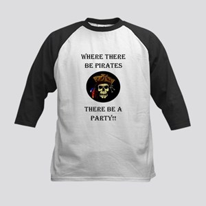 PartyPirate2a Kids Baseball Jersey