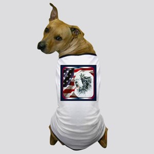 Old English Sheepdog US Flag Dog T-Shirt