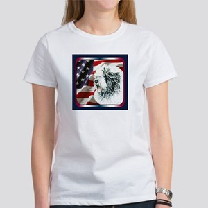 Old English Sheepdog US Flag Women's T-Shirt