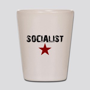 3-socialistpng Shot Glass