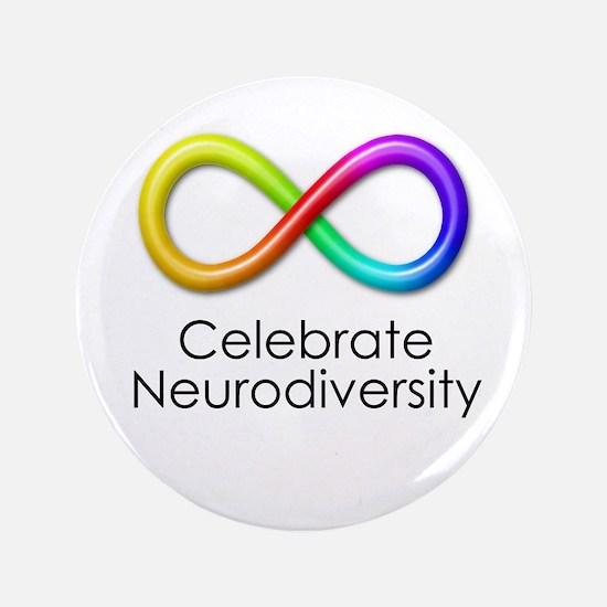 "Celebrate Neurodiversity 3.5"" Button"
