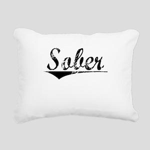 Sober, Aged, Rectangular Canvas Pillow