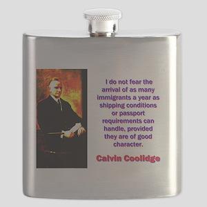 I Do Not Fear - Calvin Coolidge Flask