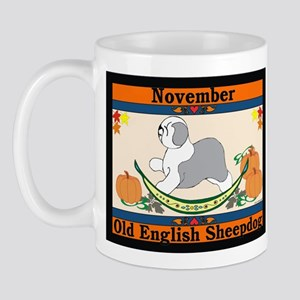 Old English Sheepdog Calendar Mug