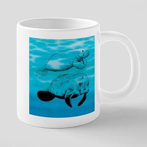 Manatee 20 oz Ceramic Mega Mug