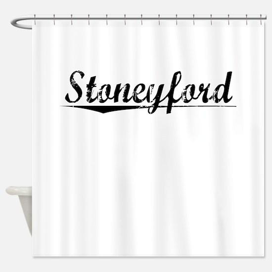 Stoneyford, Aged, Shower Curtain