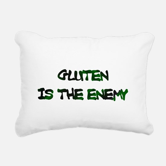 GLUTEN IS THE ENEMY Rectangular Canvas Pillow