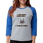 FIN-looking-mister-right Womens Baseball Tee