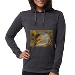 FIN-abstract-coffee Womens Hooded Shirt