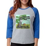 FIN-ass-coffee-break Womens Baseball Tee