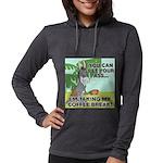 FIN-ass-coffee-break Womens Hooded Shirt