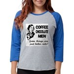 FIN-coffee-chocolate-men Womens Baseball Tee