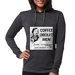 FIN-coffee-chocolate-men Womens Hooded Shirt