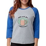 FIN-work-cappuccino Womens Baseball Tee