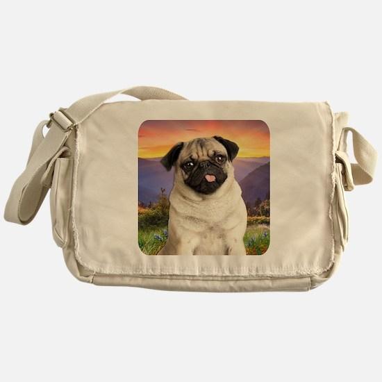 Pug Meadow Messenger Bag