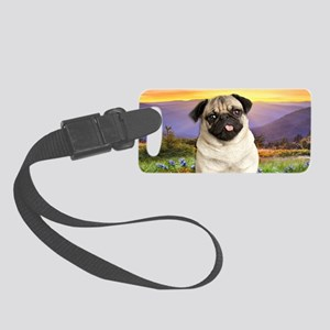 Pug Meadow Small Luggage Tag