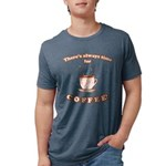 FIN-always-time-coffee Mens Tri-blend T-Shirt