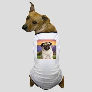 Pug Meadow Dog T-Shirt