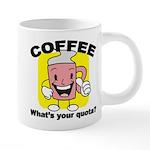 FIN-coffee-quota 20 oz Ceramic Mega Mug