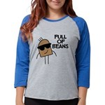 FIN-full-of-beans Womens Baseball Tee