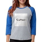 Coffee Beans Womens Baseball Tee