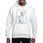 Sitting Westie Open Edition Hooded Sweatshirt