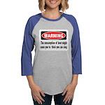 FIN-warning-beer-sing.png Womens Baseball Tee