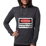 FIN-warning-beer-sing.png Womens Hooded Shirt