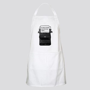 Dark and stormy night typeweriter Apron