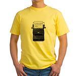 Dark and stormy night typeweriter Yellow T-Shirt