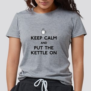 FIN-keep-calm-kettle-on Womens Tri-blend T-Shi