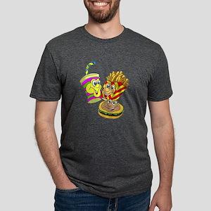 FIN-fast-food-meal Mens Tri-blend T-Shirt