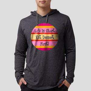 FIN-eat-dessert-first Mens Hooded Shirt