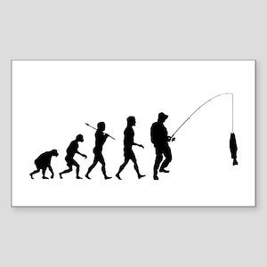 Fishing Evolution Sticker (Rectangle)