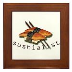 humorous sushi Framed Tile