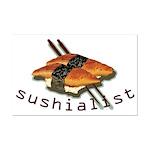 humorous sushi Mini Poster Print