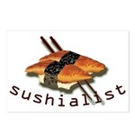 humorous sushi Postcards (Package of 8)