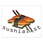 humorous sushi Small Poster