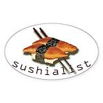 humorous sushi Oval Sticker