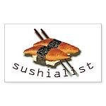 humorous sushi Rectangle Sticker