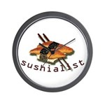 humorous sushi Wall Clock