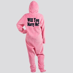 Will You Marry Me? His Footed Pajamas