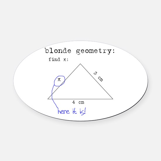 Blonde Geometry Oval Car Magnet