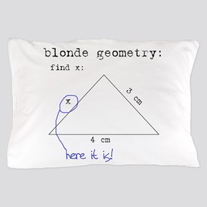 Blonde Geometry Pillow Case